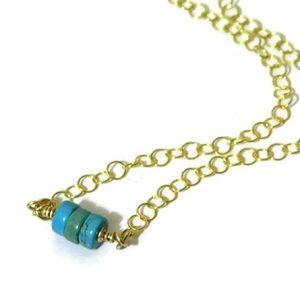 925/14K Turquoise Heshi Choker